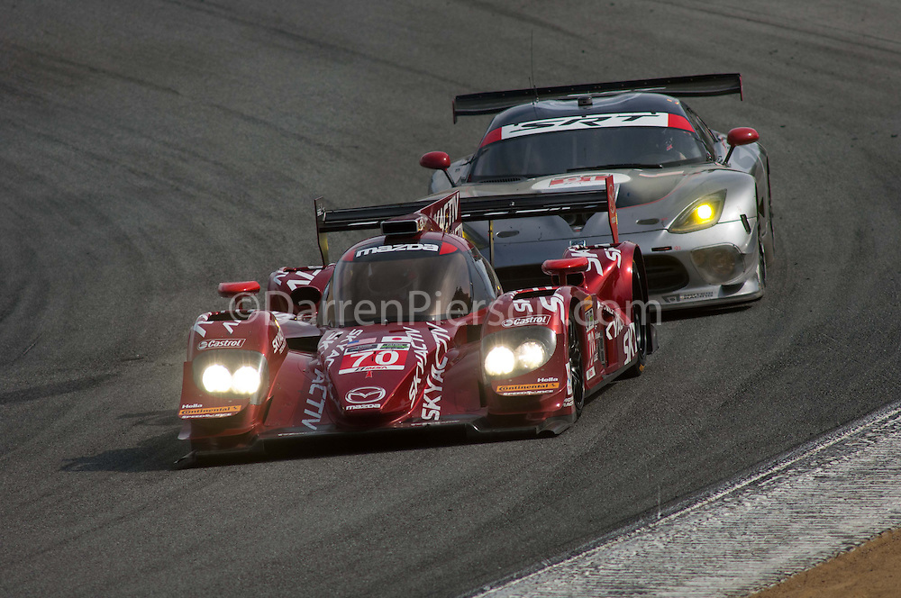 #70 SpeedSource Mazda Prototype: Sylvain Tremblay, Tom Long