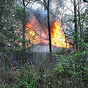 House fire outside Fayetteville, NC..
