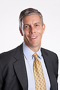 U.S. Secretary of Education Arne Duncan poses for a portrait at the Department of Education in Washington, DC, on September 8, 2010.