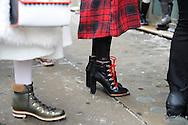 Tartan Plaid and Black Boots, Outside Ulla Johnson FW2017