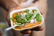 Sun dahl and popular street food snack. Chennai, Tamil Nadu, India