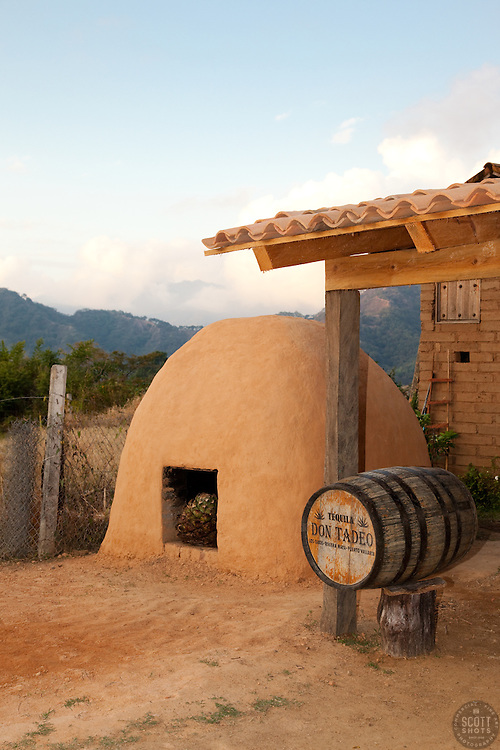 """Earthen Agave Oven""- This earthen agave oven is used in the making of tequila and ricea. Photographed near San Sebastian, Mexico."
