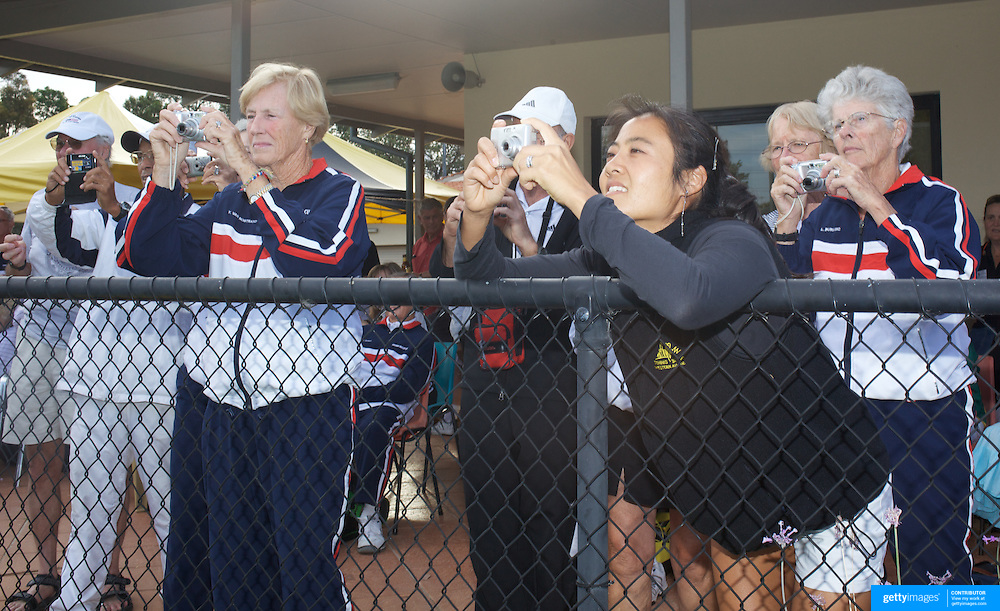 Supporters take presentation photographs  during the 2009 ITF Super-Seniors World Team and Individual Championships at Perth, Western Australia, between 2-15th November, 2009.