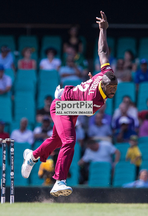 ICC Cricket World Cup 2015 Tournament Match, South Africa v West Indies, Sydney Cricket Ground; 27th February 2015<br /> West Indies Andre Russell