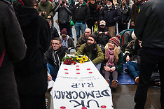 2015-02-14 Occupy holds funeral for democracy in Parliament Square
