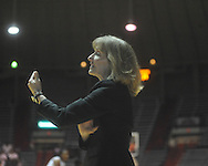 "Ole Miss head coach Renee Ladner vs. Arkansas in a women's college basketball game at C.M. ""Tad"" Smith Coliseum in Oxford, Miss. on Thursday, February 17, 2011. Arkansas won 56-53."