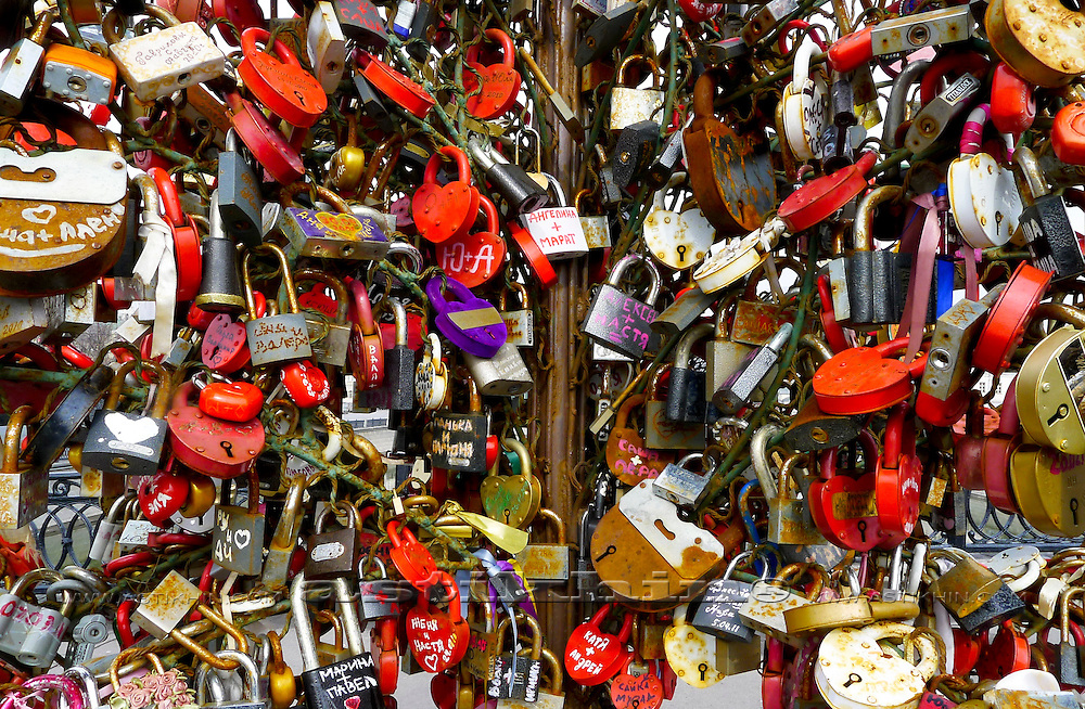 Locks on Luzhkov Bridge.