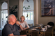 World-renowned Australian painter Lawrence Daws, 87 with his wife <br /> Andree Whatmore 82 at home in Brisbane. Represented by Art Dealer Phillip Bacon his most recent exhibition was in 2014.