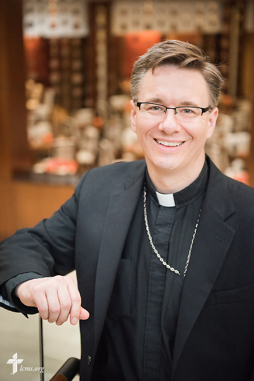 Portrait of the Rev. Christopher Esget, LCMS sixth vice-president and pastor of Immanuel Evangelical-Lutheran Church in Alexandria, Va., on Wednesday, Sept. 9, 2015, in Washington, D.C. LCMS Communications/Erik M. Lunsford