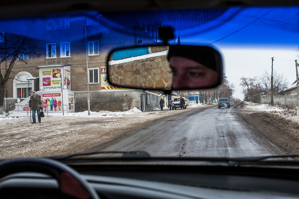 SHAKTARSK, UKRAINE - DECEMBER 8, 2014: The road between Donetsk and Luhansk in Shaktarsk, Ukraine. CREDIT: Brendan Hoffman for The New York Times