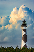Late afternoon clouds forming over Cape Lookout Lighthouse on the Core Banksof NC.