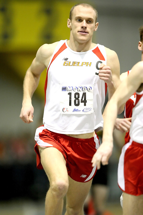Windsor, Ontario ---14/03/09--- Derek Snider of  the University of Guelph competes in the Men's 1500m Final at the CIS track and field championships in Windsor, Ontario, March 14, 2009..Sean Burges Mundo Sport Images