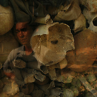 Local museum in Siem Reap, Cambodia with the remains of the brutality of Pol Pot's reign of terror during the 1970s.