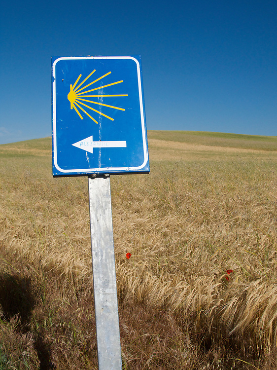All along the Way of Saint James to Santiago de Compostela there were similar way markers. The scallop shell symbol became very familiar.
