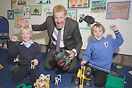 Royal Highland Show 2011. Adam Henson from BBC Countryfile meets Miller and Alexander Crombie from Falkirk at the Discovery Centre.