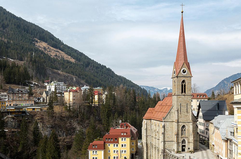 The Preimskirche in the centre of Bad Gastein in the Austrian Alps