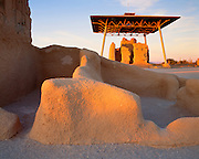 0102-1000 ~ Copyright: George H.H. Huey ~ Casa Grande ruin. Hohokam culture four story structure built and occupied A.D. 1300-1450. Case Grande National Monument, Arizona.