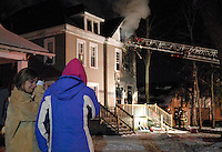 The house at 91-93 W. Northwood burns early on Jan. 17, 2011.