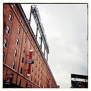 An Instagram of the warehouse outside Camden Yards in Baltimore, Maryland.