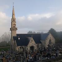Saint-Budoc church in Tregarvan, Finistere, Brittany, France.