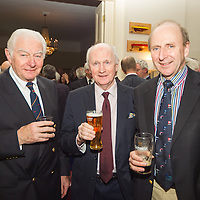 (l to r) Tony O'Gorman, John Kidney, and Conn Murphy at the Classic Dragon Reunion in the Royal St George Yacht Club (Dún Laoghaire) where a large number of current and classic Dragon sailors gathered to celebrate the long (and continued) success of the class.