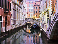 Canal in Venice Italy.