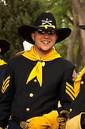 Miles City Bucking Horse Sale Parade, Montana, cavalry reenactor