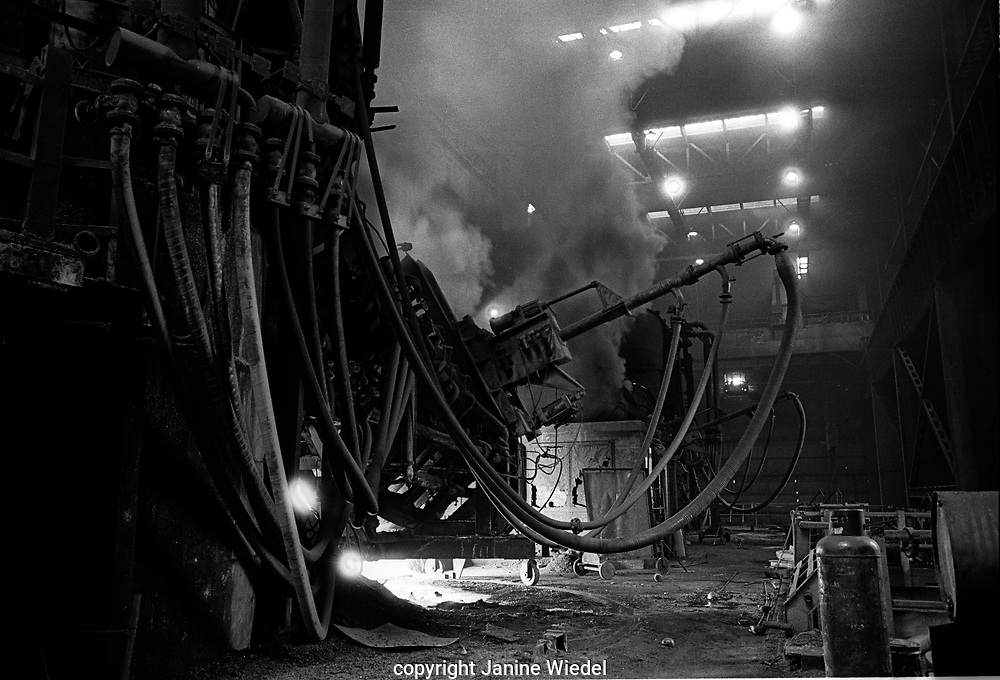 Gas lines to the Caldo Converter at Shelton Bar Iron and Steel Works  in Stoke on Trent in the 1978 just before it was closed down with loss of 2,500 jobs