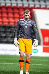 Airdrie United's keeper Robbie Thomson..Airdrie United 0 v 1 Falkirk, 30/3/2013..©Michael Schofield..