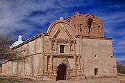 Historic Father Kino's Tumacacori Mission on sunny winter day in Southern Arizona
