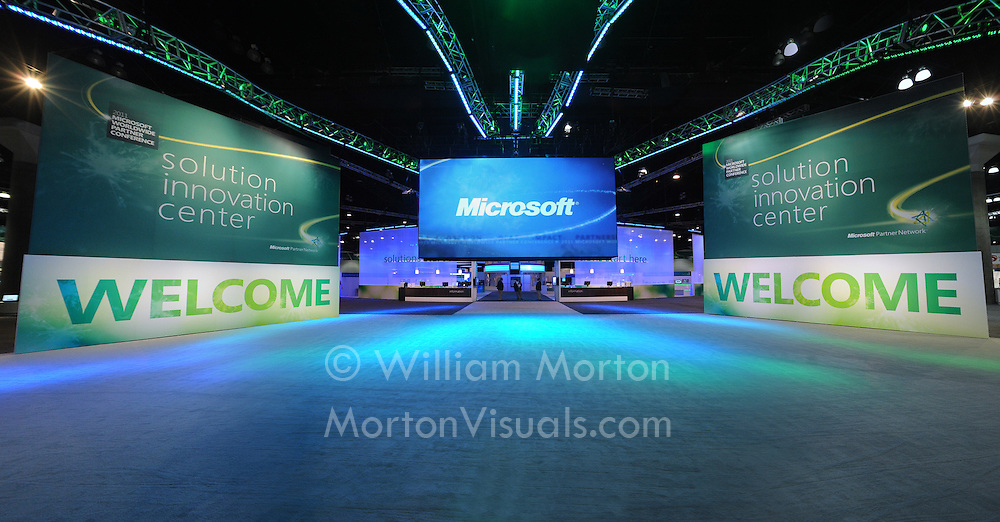 The opening of the Microsoft West Coast Partners conference at the Los Angeles Convention Center. Event photography by Dallas event photographer William Morton of Morton Visuals.