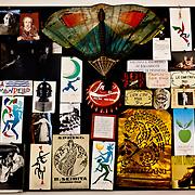 Palermo 2010 - Casa editrice Enzo Sellerio, Studio. Particolare della bacheca alle spalle della scrivania.