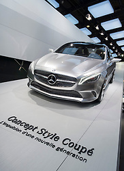 New  Mercedes Benz concept Style Coupe on display at Paris Motor Show 2012