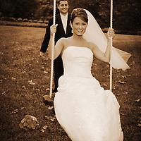 Bride on a swing