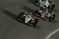 Ryan Briscoe, Scott Dixon, Tony Kanaan, Cafes do Brasil Indy 300, Homestead Miami Speedway, Homestead, FL USA,10/2/2010