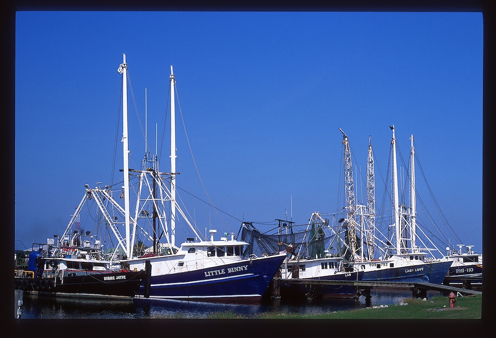 Boats at Port Fourchon, LA