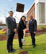 Ms. Máire Geoghegan-Quinn, EU Commissioner for Research, Innovation and Science called on Irish citizens to support the forthcoming referendum on 31st May at the turning of the first sod on the site for Medtronics new Customer Innovation Centre in Parkmore Business Park, Galway  flanked by Mr Gerard Kilcommins,  Vice President Global Vascular Operations Medtronic and Mr Tony Semedo Vice President Medtronic Endovascular. .In this new centre, Medtronics customers, including clinicians and healthcare providers, will have the opportunity to gain hands-on experience with the companys latest technologies and engage in valuable training and education programmes.  They will also be a part of the collaborative innovation process that is so vital to the advancement of medical technology and improvement of patient care. Photo:Andrew Downes