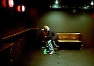 In a Camden club, London, 2005