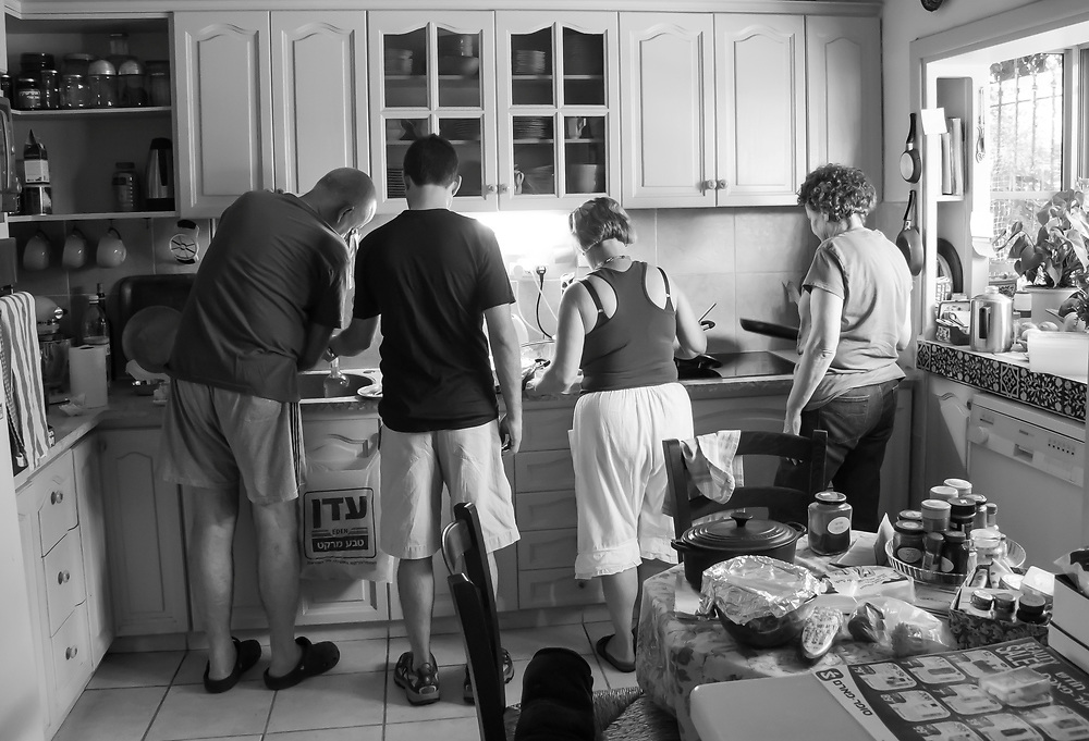 Cooking a meal. Israel.