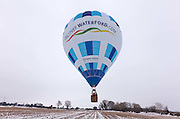 4/12/2010.The discoverwaterford.com Failte Ireland hot air balloon pictured taking off from near Ballyhale in Kilkenny piloted by Joe Daly over the weekend...Picture Dylan Vaughan