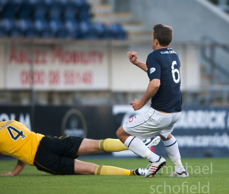 Falkirk's Will Vaulks scoring their goal.<br />