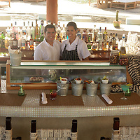 Crudo Bar at Capella Pedregal, offering a fresh selection of ceviches, tiraditos and rolls, with sake cocktails.