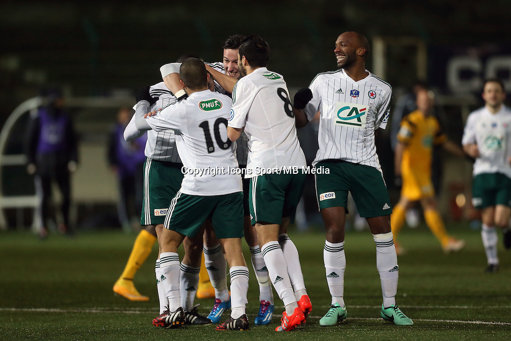 Joie Red Star  - 23.01.2015 - Red Star / Marseille Consolat - Coupe de France<br /> Photo : Sebastien Muylaert / Icon Sport