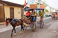 Horse and wagon in Niquero, Granma, Cuba.