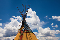 Teepee against the sky. Taos, New Mexico.