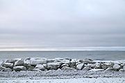 Kivalina, Alaska sea wall in 2009.