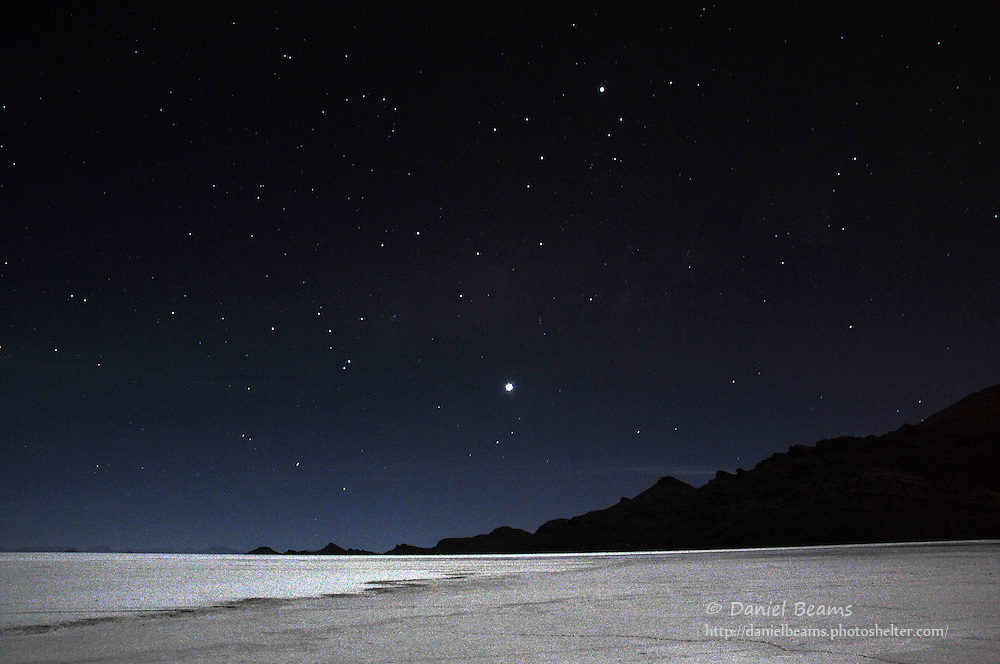 Stars and night sky on the Salar de Uyuni, Bolivia