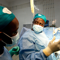Fistula Surgery in Segou, Mali.  (Prof. Ouattara trains local staff)