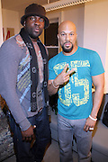 l to r:  Ajile Turner and Common backstage at Metro PCS 5 Boro Tour featuring The Dream, Jasimine Sullivan and Common held at The Brooklyn Academy of Music(BAM) on March 10, 2009 in Brooklyn , NY..**Exclusive**
