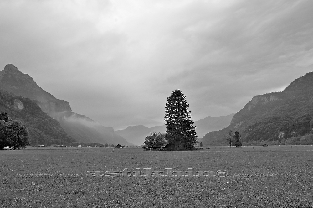 Switzerland in black and white.